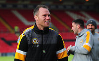 Newport County manager Michael Flynn during the pre-match warm-up<br /> <br /> Photographer Andrew Vaughan/CameraSport<br /> <br /> The EFL Sky Bet League Two - Lincoln City v Newport County - Saturday 22nd December 201 - Sincil Bank - Lincoln<br /> <br /> World Copyright &copy; 2018 CameraSport. All rights reserved. 43 Linden Ave. Countesthorpe. Leicester. England. LE8 5PG - Tel: +44 (0) 116 277 4147 - admin@camerasport.com - www.camerasport.com