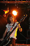 Kaohsiung, MegaPort Music Festival -- Xiao Xiao of the Taiwanese band HOTPINK playing bass at the festival.