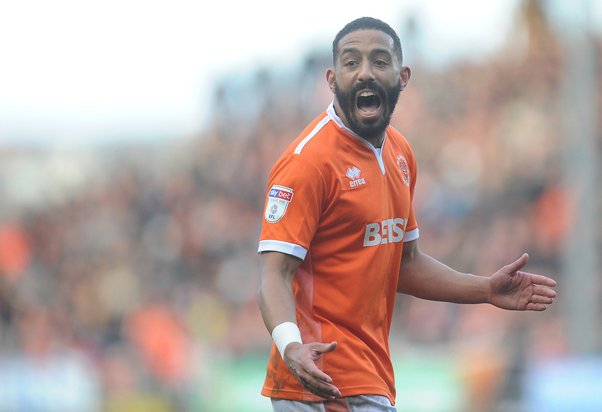 Blackpool's Liam Feeney<br /> <br /> Photographer Kevin Barnes/CameraSport<br /> <br /> The EFL Sky Bet League One - Blackpool v Southend United - Saturday 9th March 2019 - Bloomfield Road - Blackpool<br /> <br /> World Copyright © 2019 CameraSport. All rights reserved. 43 Linden Ave. Countesthorpe. Leicester. England. LE8 5PG - Tel: +44 (0) 116 277 4147 - admin@camerasport.com - www.camerasport.com
