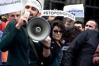 Roma, 1 Ottobe 2016<br /> Flash mob in Piazzale Flaminio per chiedere la riapertura dei lavori sulla Legge contro l'omofobia dopo gli ultimi due eclatanti atti omofobi