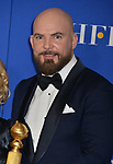 Chris Butler 163 poses in the press room with awards at the 77th Annual Golden Globe Awards at The Beverly Hilton Hotel on January 05, 2020 in Beverly Hills, California.