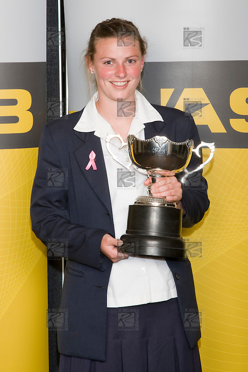 Overall Sports Woman of the Year Anna Green  from Epsom Girls Grammar School.ASB College Sport Young Sportperson of the Year Awards 2008 held at Eden Park, Auckland, on Thursday November 13th, 2008.