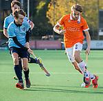 BLOEMENDAAL  - Merijn Bos, (Bl'daal)   competitiewedstrijd junioren  landelijk  Bloemendaal JA1-Nijmegen JA1 (2-2) . COPYRIGHT KOEN SUYK