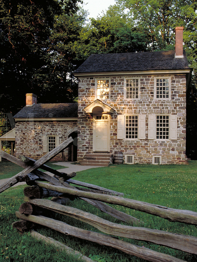 Washington's Headquarters at Valley Forge National Historic Park, PA . American Revolution. Valley Forge Pennsylvania USA.