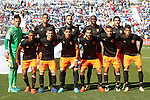 Valencia CF's team photo with Diego Alves, Aderllan Santos, Mario Suarez, Eliaquim Mangala, Daniel Parejo, Luis Nani, Jose Luis Gaya, Enzo Perez, Martin Montoya, Rodrigo Moreno and Joao Cancelo during La Liga match. September 25,2016. (ALTERPHOTOS/Acero)