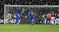 Cardiff City's Joe Ralls see his penalty save by West Ham United's Lukasz Fabianski<br /> <br /> Photographer Rob Newell/CameraSport<br /> <br /> The Premier League - West Ham United v Cardiff City - Tuesday 4th December 2018 - London Stadium - London<br /> <br /> World Copyright © 2018 CameraSport. All rights reserved. 43 Linden Ave. Countesthorpe. Leicester. England. LE8 5PG - Tel: +44 (0) 116 277 4147 - admin@camerasport.com - www.camerasport.com