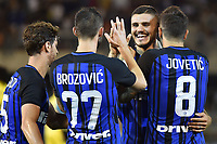 Esultanza Gol Marcelo Brozovic con Mauro Icardi, Stevan Jovetic Inter Goal celebration <br /> San Benedetto del Tronto 06-08-2017 <br /> Football Friendly Match  <br /> Inter - Villarreal Foto Andrea Staccioli Insidefoto
