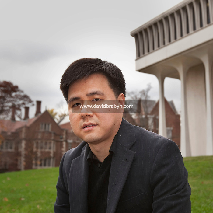 Princeton University professor of economy, Wei Xiong, poses for the photographer on the university campus in Princeton, NJ, USA, 2 November 2009.