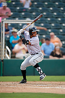 Jupiter Hammerheads designated hitter Angel Reyes (30) at bat during a game against the Fort Myers Miracle on April 9, 2017 at CenturyLink Sports Complex in Fort Myers, Florida.  Jupiter defeated Fort Myers 3-2.  (Mike Janes/Four Seam Images)