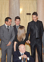 Cristiano Ronaldo and Princess Letizia of Spain attend the National Sports Awards ceremony at El Pardo Palace. December 05, 2012. (ALTERPHOTOS/Caro Marin) NortePhoto