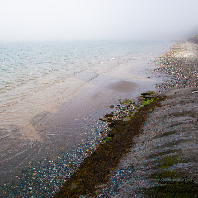Sea mist on the beach, Ramsey, Isle of Man.