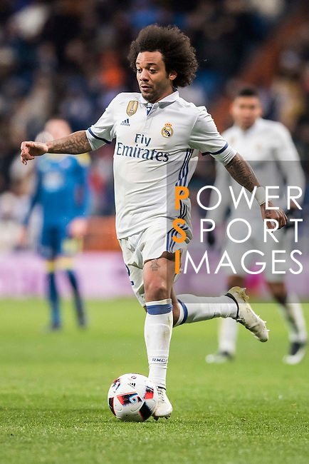 Marcelo Vieira Da Silva of Real Madrid in action during their Copa del Rey 2016-17 Quarter-final match between Real Madrid and Celta de Vigo at the Santiago Bernabéu Stadium on 18 January 2017 in Madrid, Spain. Photo by Diego Gonzalez Souto / Power Sport Images