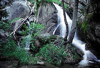 Small peaceful water falls, Kings Canyon National Park, California.