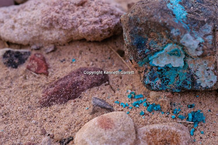 Copper ore, Wadi Faynan, western Jordan, mined from Copper Age site