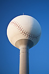 Baseball watertower at the Charlotte Knights stadium