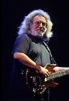 "Jerry Garcia of The Grateful Dead performs during a concert in Oakland.  The remaining members of the band will reunite for the final time for the ""Fare Thee Well"" concerts  over July 4th weekend in 2015."