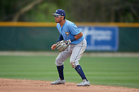 Tampa Bay Rays Jonathan Aranda (96) during a Minor League Spring Training game against the Baltimore Orioles on March 16, 2019 at the Buck O'Neil Baseball Complex in Sarasota, Florida.  (Mike Janes/Four Seam Images)