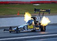 May 13, 2016; Commerce, GA, USA; NHRA top fuel driver Leah Pritchett during qualifying for the Southern Nationals at Atlanta Dragway. Mandatory Credit: Mark J. Rebilas-USA TODAY Sports