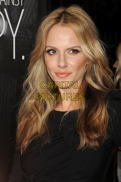 "Monet Mazur.""This Means War"" Los Angeles Premiere held at Grauman's Chinese Theatre, Hollywood, California, USA..February 8th, 2012.headshot portrait black.CAP/ADM/BP.©Byron Purvis/AdMedia/Capital Pictures."