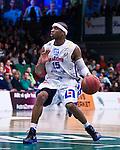Södertälje 2013-02-23 Basket Basketligan , Södertälje Kings - Sundsvall Dragons :  .Sundsvall 15 Michael Cuffeei aktion.(Byline: Foto: Kenta Jönsson) Nyckelord:  porträtt portrait