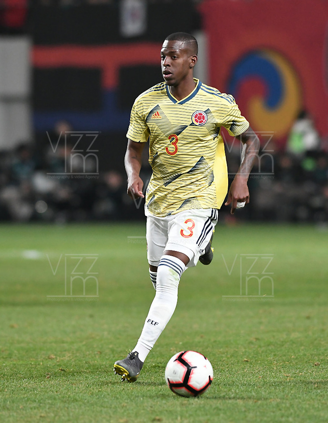 SEÚL – COREA DEL SUR, 26-03-2019: Luis Orjuela de Colombia en acción durante partido amistoso de la fecha FIFA marzo 2019 entre las selecciones de Corea del Sur y Colombia jugado en el estadio Mundialista de Seúl. / Luis Orjuela of Colombia in action during friendly match for the FIFA date March 2019 between national teams of South Korea and Colombia played at Seoul World Cup Stadium. Photos: VizzorImage / Julian Medina / Cont / FCF