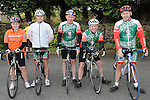 Lisa, Brendan and Gerard Neary, Ray Fedigan and Paul Duffy who took part in the Ardee Cycle club 50Km cycle. Photo: Colin Bell/pressphotos.ie