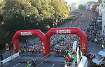18000 Runners line up to start the Cardiff Half Marathon..14.10.12.CREDIT:  STEVE POPE - SPORTINGWALES