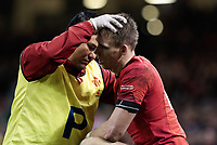 Wales' Liam Williams receives treatment  <br /> <br /> Photographer Simon King/CameraSport<br /> <br /> International Rugby Union - 2017 Under Armour Series Autumn Internationals - Wales v Australia - Saturday 11th November 2017 - Principality Stadium - Cardiff<br /> <br /> World Copyright &copy; 2017 CameraSport. All rights reserved. 43 Linden Ave. Countesthorpe. Leicester. England. LE8 5PG - Tel: +44 (0) 116 277 4147 - admin@camerasport.com - www.camerasport.com