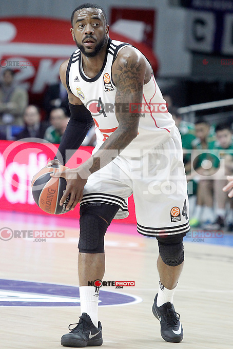 Real Madrid's K.C.Rivers during Euroleague match.January 22,2015. (ALTERPHOTOS/Acero) /NortePhoto<br />