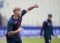 Ben Stokes (England) with another one handed catch, this time in practice during a Training Session at Edgbaston Stadium on 10th July 2019