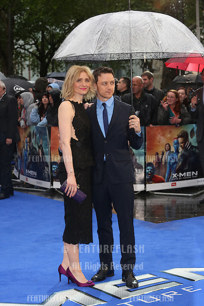 James McAvoy, Anne-Marie Duff at X-Men: Days Of Future Past - UK film premiere<br /> London, England. 12/05/2014 Picture by: Henry Harris / Featureflash