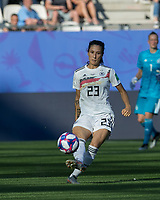 GRENOBLE, FRANCE - JUNE 22: Sara Doorsoun #23 passes the ball during a game between Panama and Guyana at Stade des Alpes on June 22, 2019 in Grenoble, France.