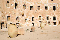 Qasr al-Haj, Libya - Fortified Berber Granary, 12th Century, Openings to Inside Storage Chambers