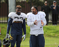 SYDNEY, AUSTRALIA - August 23, 2016:  Cal Bears Football team Australia trip.  Marshawn Lynch and Vic Enwere
