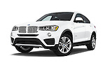 Stock pictures of low aggressive front three quarter view of 2017 BMW X4 xDrive28i 5 Door SUV Low Aggressive