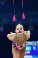August 31, 2017 - Pesaro, Italy - ARINA AVERINA of Russia performs clubs recatch at 2017 World Championships.