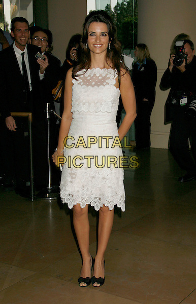 PENELOPE CRUZ.79th Annual Academy Awards Nominees Luncheon held at the Beverly Hilton Hotel, Beverly Hills, California, USA,.05 February 2007..full length white dress lace black open toe shoes.CAP/ADM/RE.©Russ Elliot/AdMedia/Capital Pictures.
