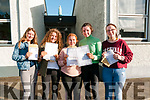 Presentation Convent Listowel Junior cert students that received their results on Wednesday morning last ; Zara O'Doherty, Emma Browne, Tara O'Neill, Cliona Pierse & Denise Cusack.
