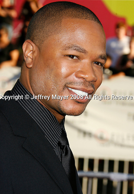 "Rapper Xzibit arrives at the The World Premiere of ""The X-Files: I Want To Believe"" at Mann's Grauman Chinese Theatre on July 23, 2008 in Hollywood, California."
