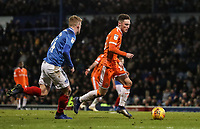 Blackpool's Jordan Thompson breaks<br /> <br /> Photographer Andrew Kearns/CameraSport<br /> <br /> The EFL Sky Bet League One - Portsmouth v Blackpool - Saturday 12th January 2019 - Fratton Park - Portsmouth<br /> <br /> World Copyright &copy; 2019 CameraSport. All rights reserved. 43 Linden Ave. Countesthorpe. Leicester. England. LE8 5PG - Tel: +44 (0) 116 277 4147 - admin@camerasport.com - www.camerasport.com