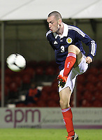 Joseph Chalmers in the Scotland v Armenia UEFA European Under-19 Championship Qualifying Round match at New Douglas Park, Hamilton on 9.10.12.