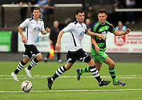 Pictured: Liam Cullen of Swansea (R) Saturday 11 July 2015<br />