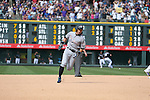 Ichiro Suzuki (Marlins),<br /> AUGUST 7, 2016 - MLB :<br /> Ichiro Suzuki of the Miami Marlins runs to third base after hitting a triple for his 3000th career hit in MLB in the seventh inning during the Major League Baseball game against the Colorado Rockies at Coors Field in Denver, Colorado, United States. (Photo by Thomas Anderson/AFLO) (JAPANESE NEWSPAPER OUT)