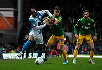 Blackburn Rovers' Ryan Nyambe battles with Preston North End's Josh Harrop<br /> <br /> Photographer Alex Dodd/CameraSport<br /> <br /> The EFL Sky Bet Championship - Blackburn Rovers v Preston North End - Saturday 11th January 2020 - Ewood Park - Blackburn<br /> <br /> World Copyright © 2020 CameraSport. All rights reserved. 43 Linden Ave. Countesthorpe. Leicester. England. LE8 5PG - Tel: +44 (0) 116 277 4147 - admin@camerasport.com - www.camerasport.com