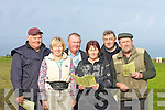 FINE DAY: Taking adavantage of the sunny day and spent the day at the Ballyheigue Coursing on Saturday Front l-r: Kathleen Gilbride and Teresa Reidy. Back l-r: Brendan Purcell, Andrew Sheehy, JP  Prendiville and Thomas Joseph hayes (Ballyheigue).......................................................   Copyright Kerry's Eye 2008