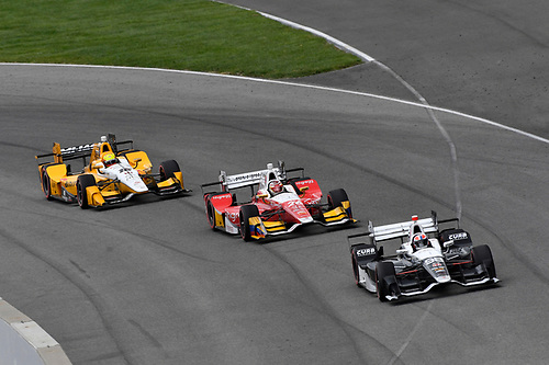 12-14 May, 2016, Indianapolis, Indiana USA<br /> Alexander Rossi, Carlos Munoz, Spencer Pigot<br /> ©2016, Scott R LePage <br /> LAT Photo USA