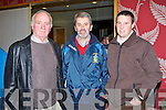 AGM: John Clifford, Declan Falvey and Terence Houlihan from Laune Rangers attending the Kerry GAA annual general meeting at the Ballyroe Heights hotel on Monday.