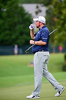 Shane Lowry (IRL) takes a drink on the 4th green during Friday's round 2 of the PGA Championship at the Quail Hollow Club in Charlotte, North Carolina. 8/11/2017.<br /> Picture: Golffile | Ken Murray<br /> <br /> <br /> All photo usage must carry mandatory copyright credit (&copy; Golffile | Ken Murray)