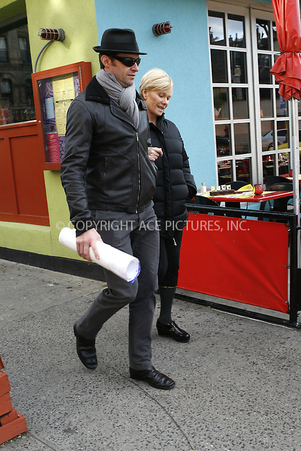 WWW.ACEPIXS.COM . . . . .  ....EXCLUSIVE COVERAGE - ALL ROUNDER....November 7 2009, New York City....Actor Hugh Jackman and his wife Deborra-Lee Furness were seen walking around the West Village on November 7 2009 in New York City....Please byline: NANCY RIVERA- ACE PICTURES.... *** ***..Ace Pictures, Inc:  ..tel: (212) 243 8787 or (646) 769 0430..e-mail: info@acepixs.com..web: http://www.acepixs.com