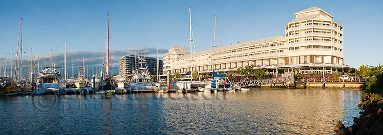 Marlin Marina and Shangri-La Hotel.  Cairns, Queensland, Australia